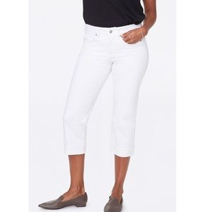 NYDJ Marilyn Straight Crop Jeans In Optic White
